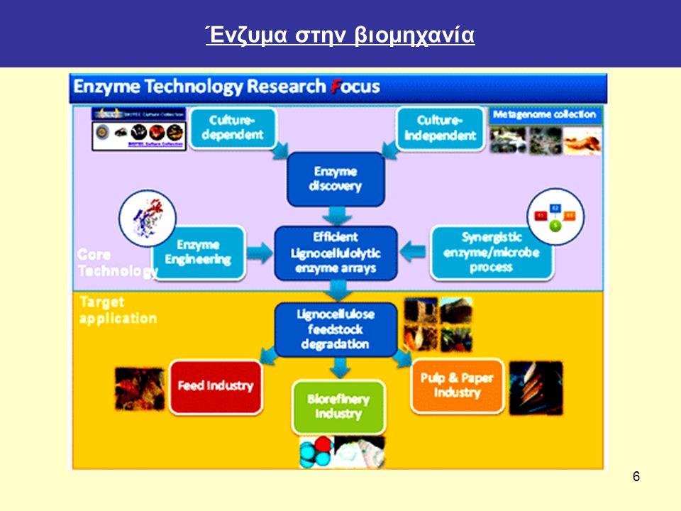 7 Βιοτεχνολογία τροφίμων Η βιοτεχνολογία μπορεί να εφαρμοστεί στην επεξεργασία των τροφίμων, ώστε: Να βελτιώσει την ποιότητα των ζυμούμενων τροφίμων με την χρήση γενετικά τροποποιημένων μικροοργανισμών ως εκκινήτριες μικροβιακές καλλιέργειες (starters) ζύμωσης/επεξεργασίας.