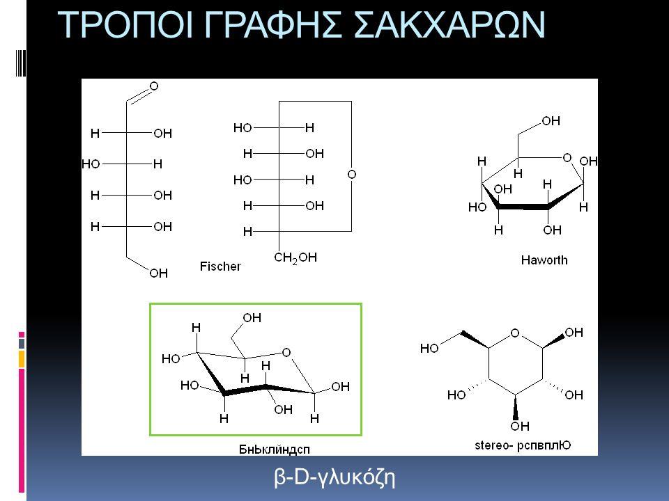 ΤΡΟΠΟΙ ΓΡΑΦΗΣ ΣΑΚΧΑΡΩΝ β-D-γλυκόζη