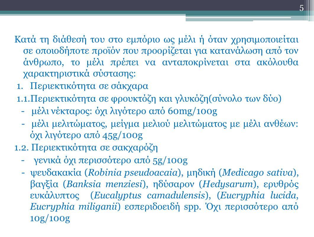 - Λεβάντα (Lavandula spp.), μποράντζα (Borago officinalis): όχι περισσότερο από 15g/100g 2.