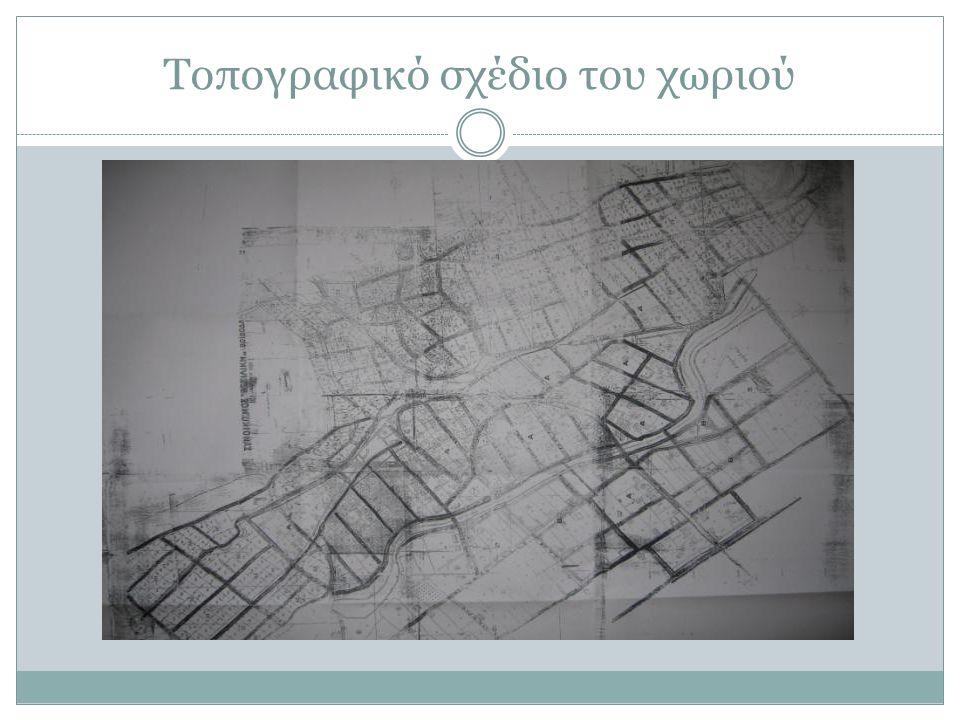 Τοπογραφικό σχέδιο του χωριού