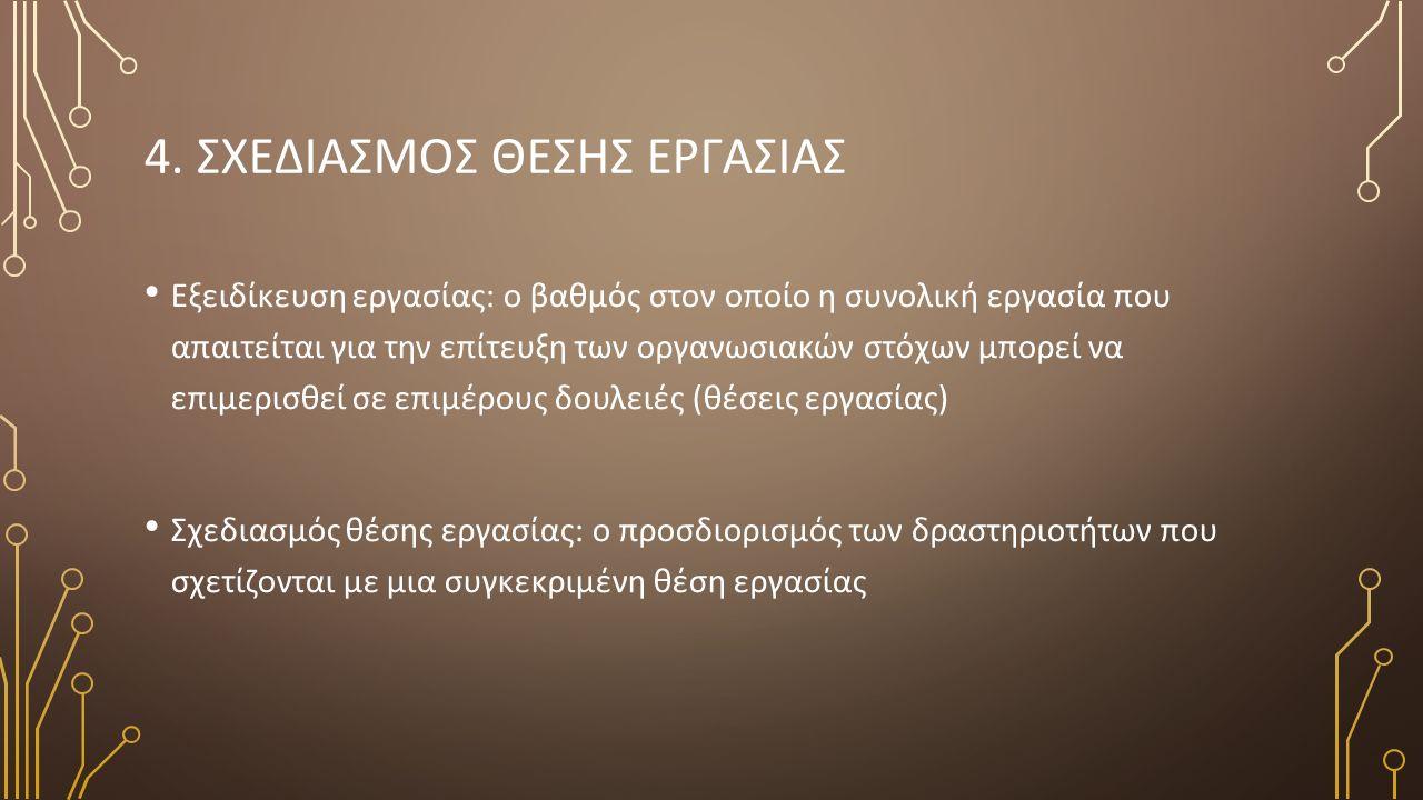 5. ΠΡΟΣΕΓΓΙΣΕΙΣ ΣΤΟΝ ΣΧΕΔΙΑΣΜΟ ΘΕΣΗΣ ΕΡΓΑΣΙΑΣ (1) Απλούστευση εργασίας