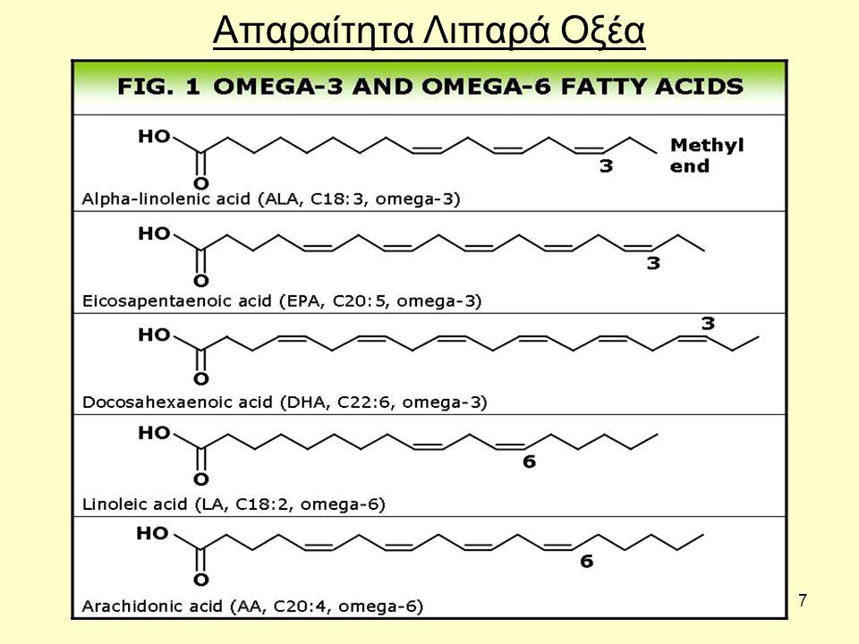 8 Απαραίτητα λιπαρά οξέα - Τα απαραίτητα λιπαρά οξέα χωρίζονται σε δύο ομάδες στα Ω3 και στα Ω6 λιπαρά οξέα.