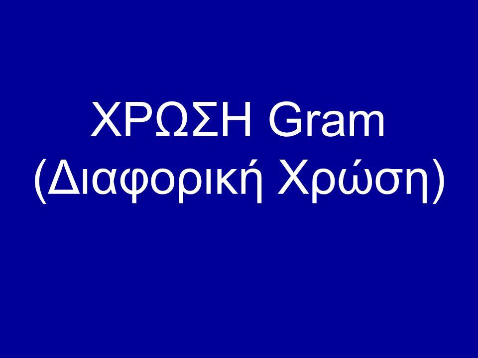 ΧΡΩΣΗ Gram ( Διαφορική Χρώση)