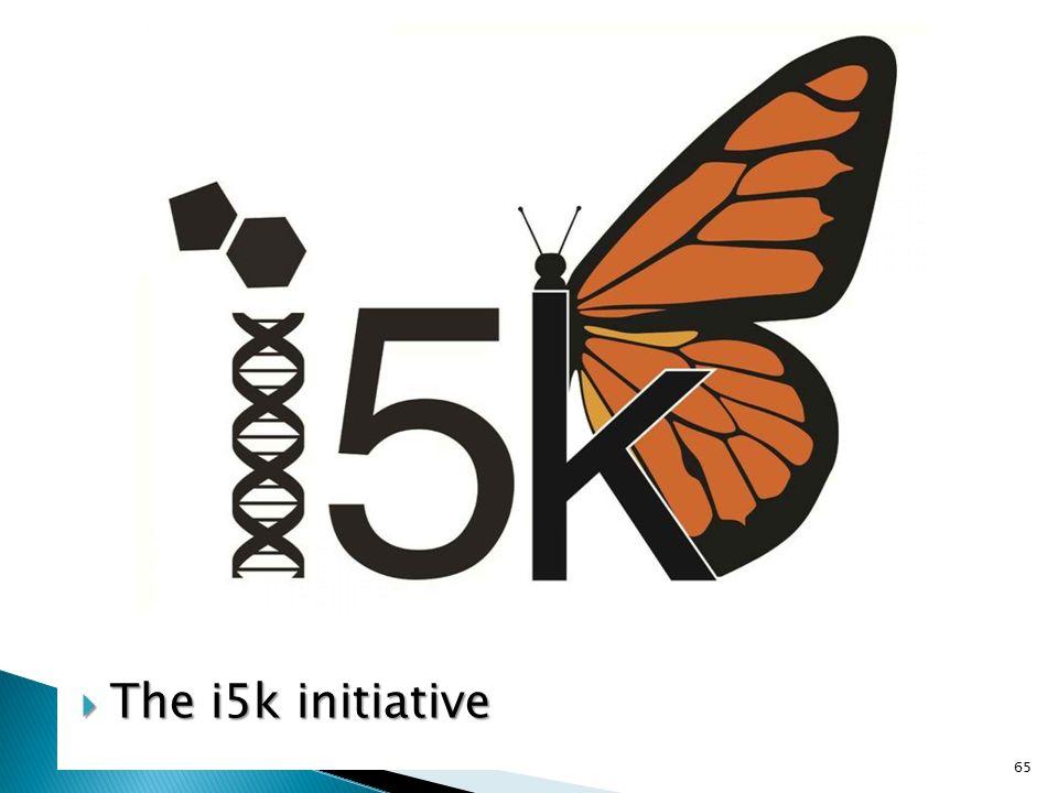  The i5k initiative 65