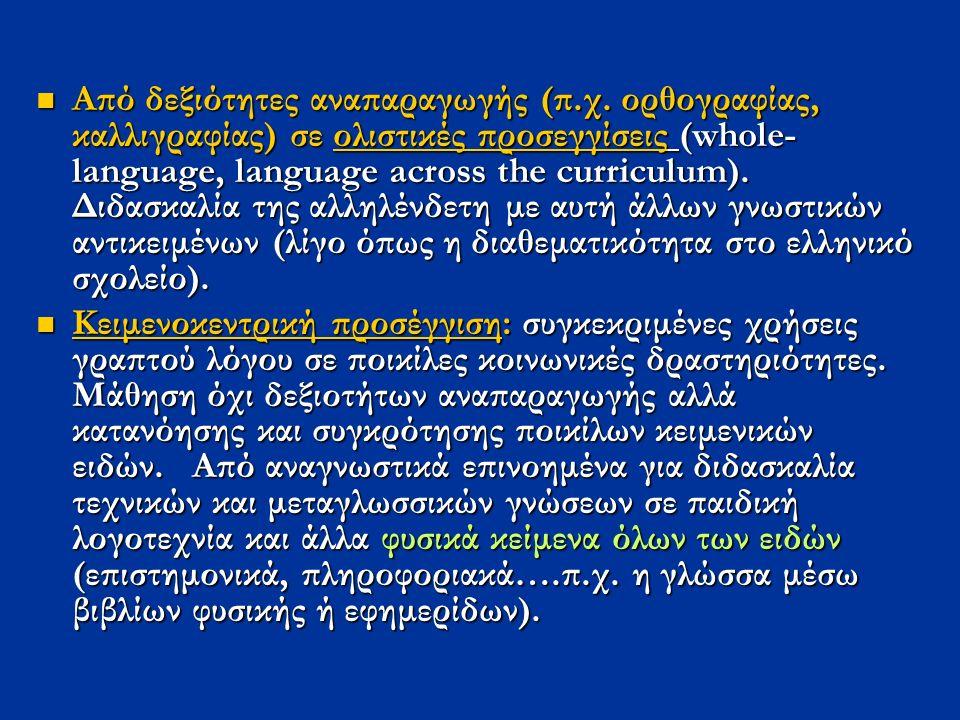 Από δεξιότητες αναπαραγωγής (π.χ.
