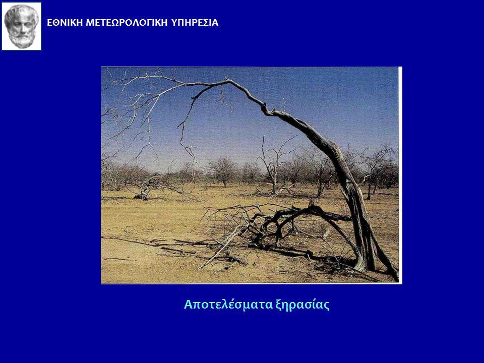 Ξηρασία Μία παρατεταμένη περίοδος θερμού και ξηρού καιρού οδηγεί σε ξηρασία και θεωρείται ως κλιματική ανωμαλία (climate anomaly). Κύρια αιτία είναι η