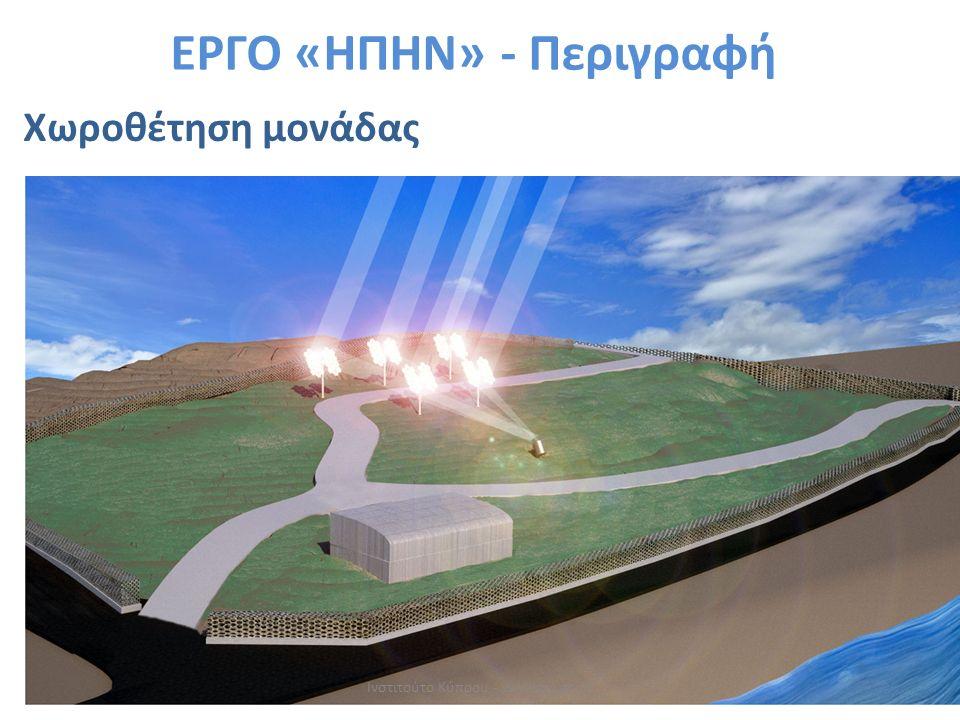 Χωροθέτηση μονάδας ΕΡΓΟ «ΗΠΗΝ» - Περιγραφή Ινστιτούτο Κύπρου - www.cyi.ac.cy