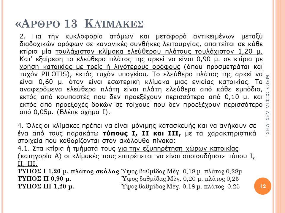 «Α ΡΘΡΟ 13 Κ ΛΊΜΑΚΕΣ 12 ΜΑΡΑ ΣΟΦΙΑ ΑΡΧ. ΜΗΧ. 2.