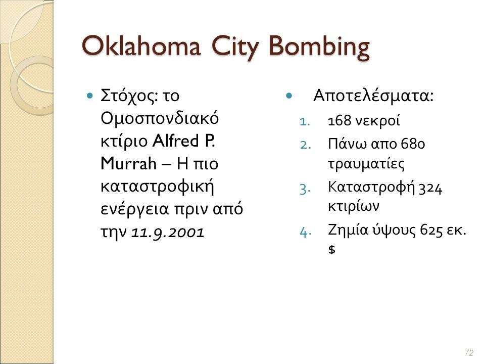 Oklahoma City Bombing Στόχος : το Ομοσπονδιακό κτίριο Alfred P.
