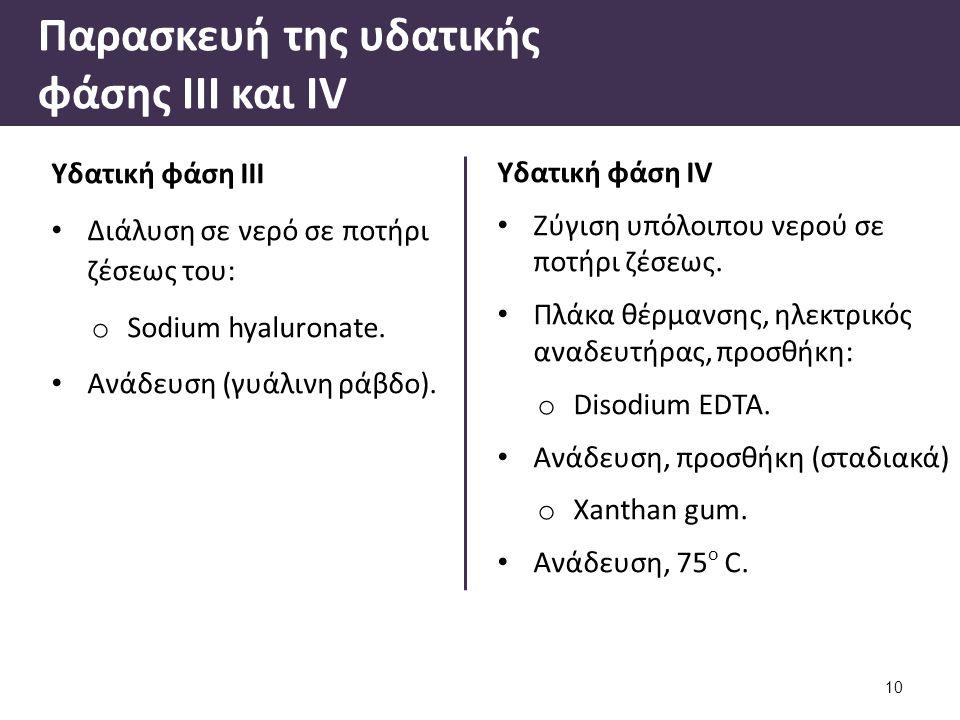 Υδατική φάση ΙV Ζύγιση υπόλοιπου νερού σε ποτήρι ζέσεως.