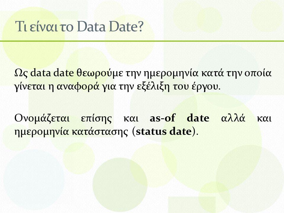 Τι είναι το Data Date.