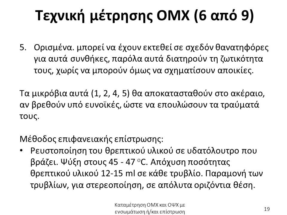 Τεχνική μέτρησης ΟΜΧ (6 από 9) 5.Ορισμένα.