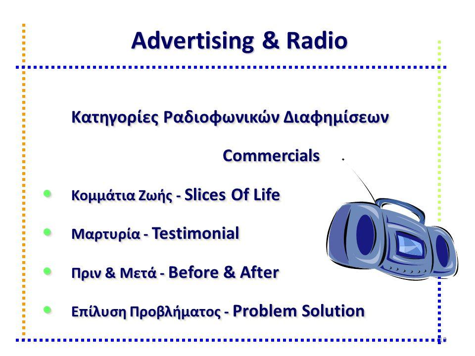 Advertising & Radio Κατηγορίες Ραδιοφωνικών Διαφημίσεων Commercials Κομμάτια Ζωής - Slices Of Life Κομμάτια Ζωής - Slices Of Life Μαρτυρία - Testimoni