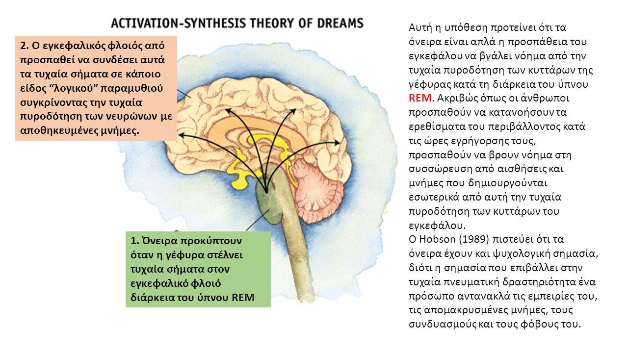 Αυτή η υπόθεση προτείνει ότι τα όνειρα είναι απλά η προσπάθεια του εγκεφάλου να βγάλει νόημα από την τυχαία πυροδότηση των κυττάρων της γέφυρας κατά τη διάρκεια του ύπνου REM.