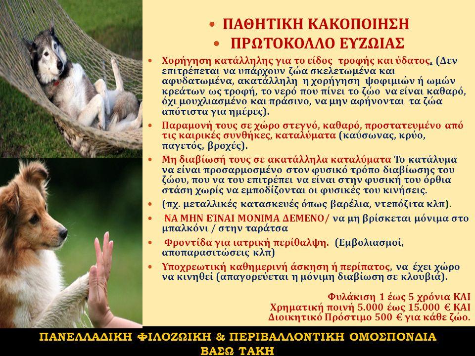Απαγόρευση πώλησης ζώων συντροφιάς ηλικίας μικρότερης των 8 εβδομάδων.