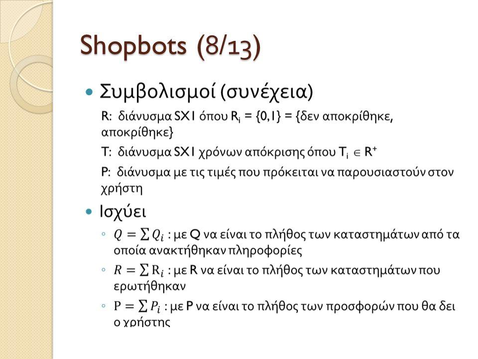 Shopbots (8/1 3 )