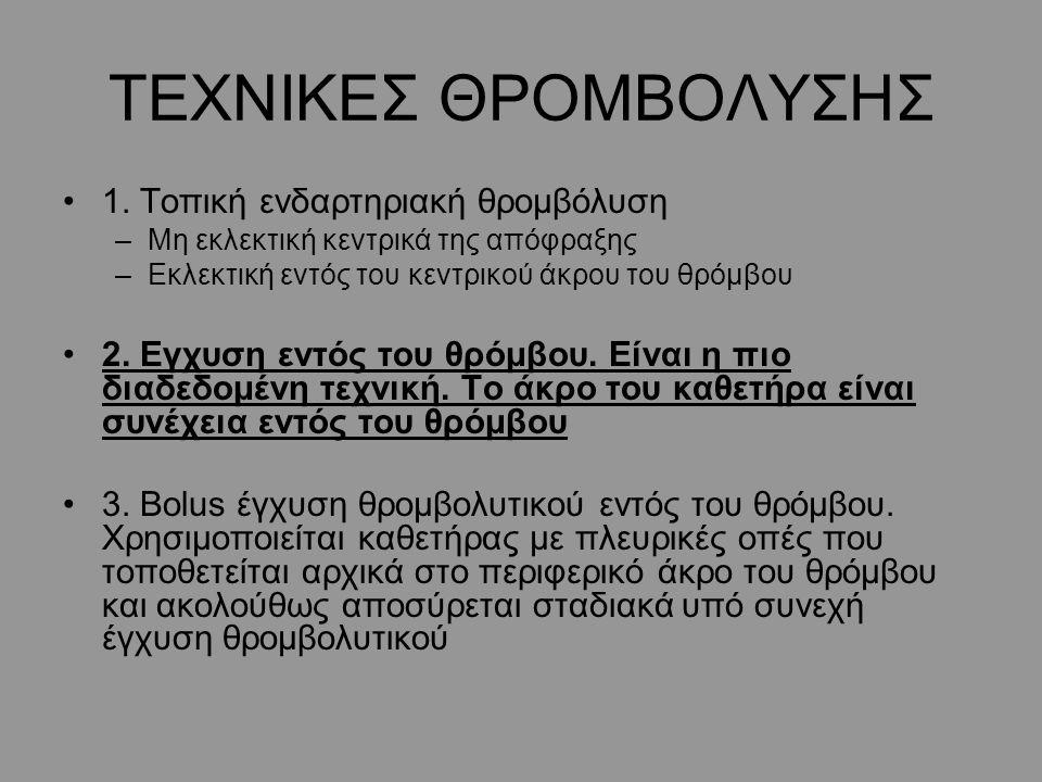 ΤΕΧΝΙΚΕΣ ΘΡΟΜΒΟΛΥΣΗΣ 1.