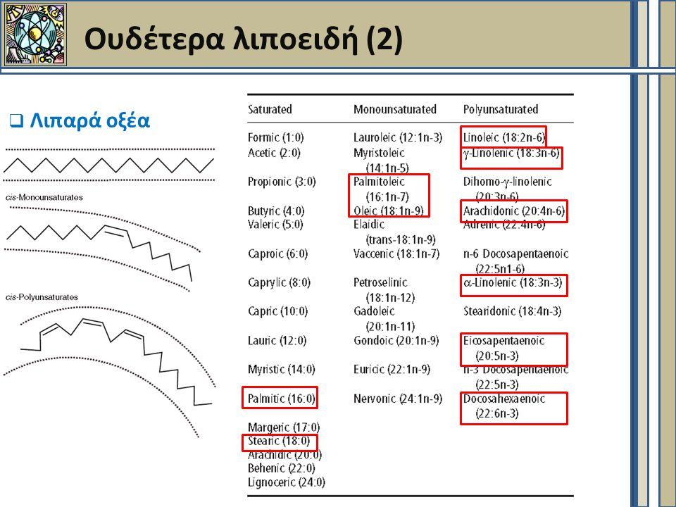 Ουδέτερα λιποειδή (2)  Λιπαρά οξέα
