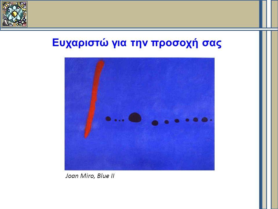 Ευχαριστώ για την προσοχή σας Joan Miro, Blue II
