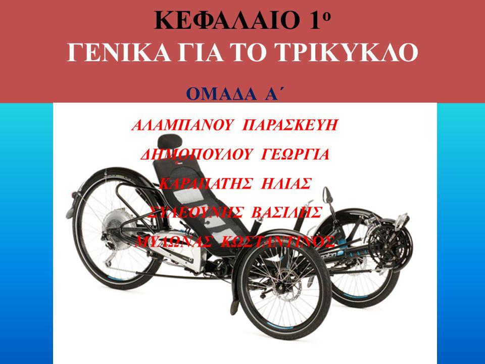 ΚΕΦΑΛΑΙΟ 1 ο ΓΕΝΙΚΑ ΓΙΑ ΤΟ ΤΡΙΚΥΚΛΟ ΟΜΑΔΑ Α΄ ΑΛΑΜΠΑΝΟΥ ΠΑΡΑΣΚΕΥΗ ΔΗΜΟΠΟΥΛΟΥ ΓΕΩΡΓΙΑ ΚΑΡΑΠΑΤΗΣ ΗΛΙΑΣ ΣΥΛΕΟΥΝΗΣ ΒΑΣΙΛΗΣ ΜΥΛΩΝΑΣ ΚΩΣΤΑΝΤΙΝΟΣ