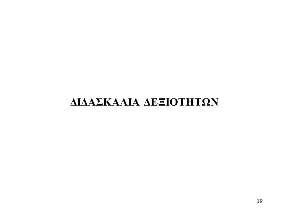 ΔΙΔΑΣΚΑΛΙΑ ΔΕΞΙΟΤΗΤΩΝ 19