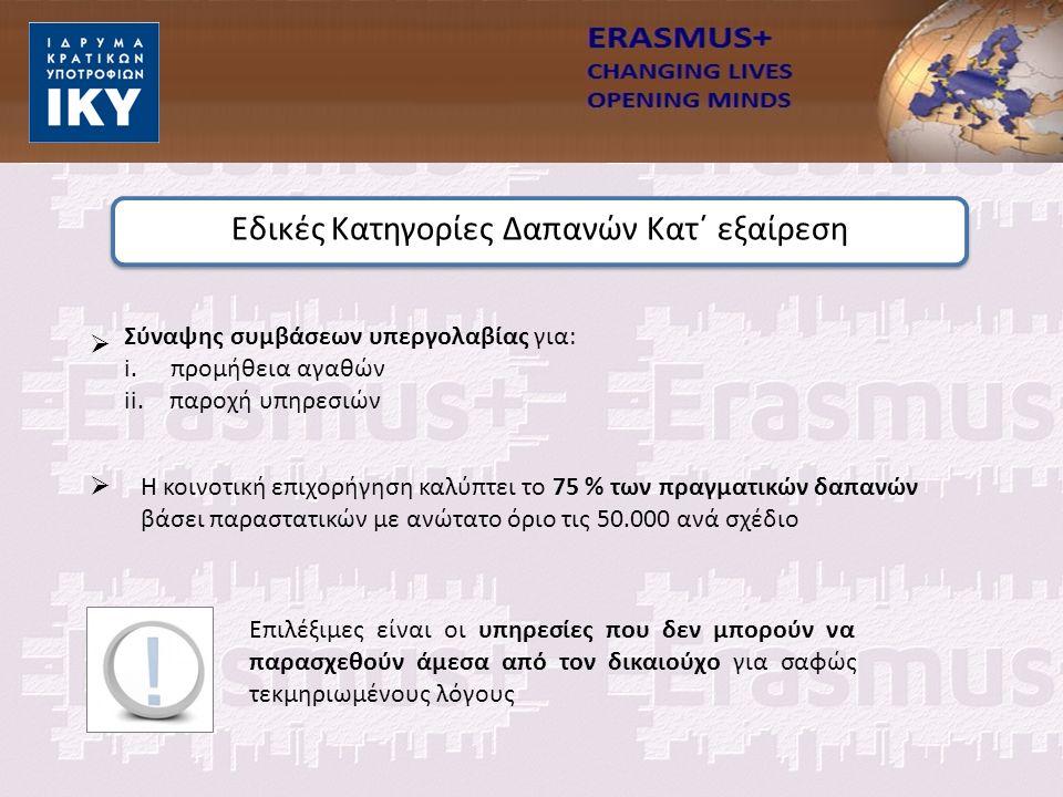   Σύναψης συμβάσεων υπεργολαβίας για: i.προμήθεια αγαθών ii.