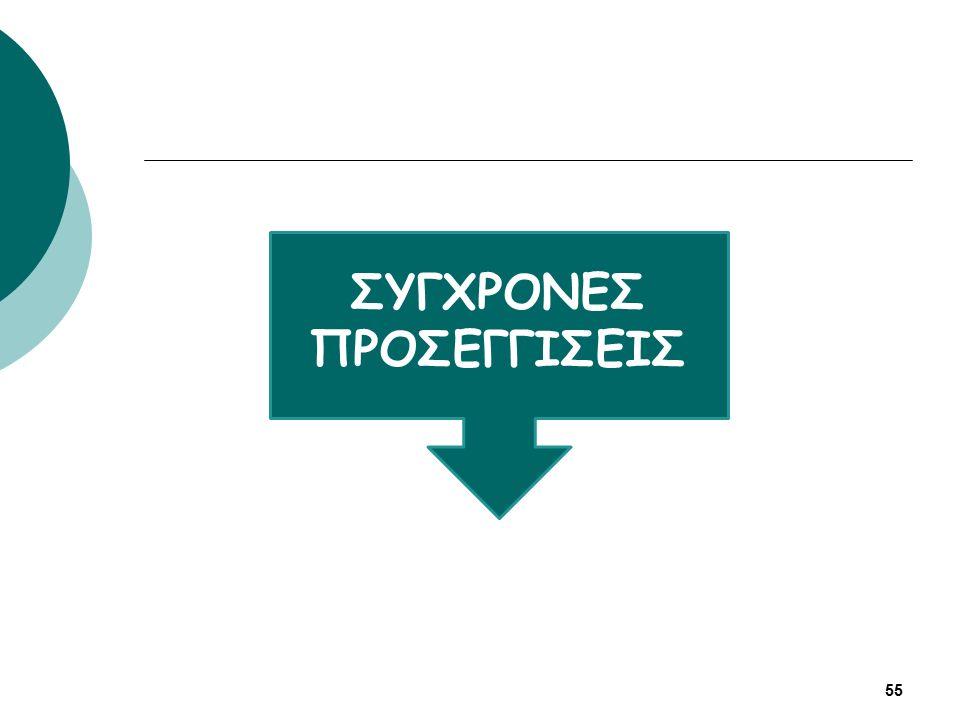 ΣΥΓΧΡΟΝΕΣ ΠΡΟΣΕΓΓΙΣΕΙΣ 55