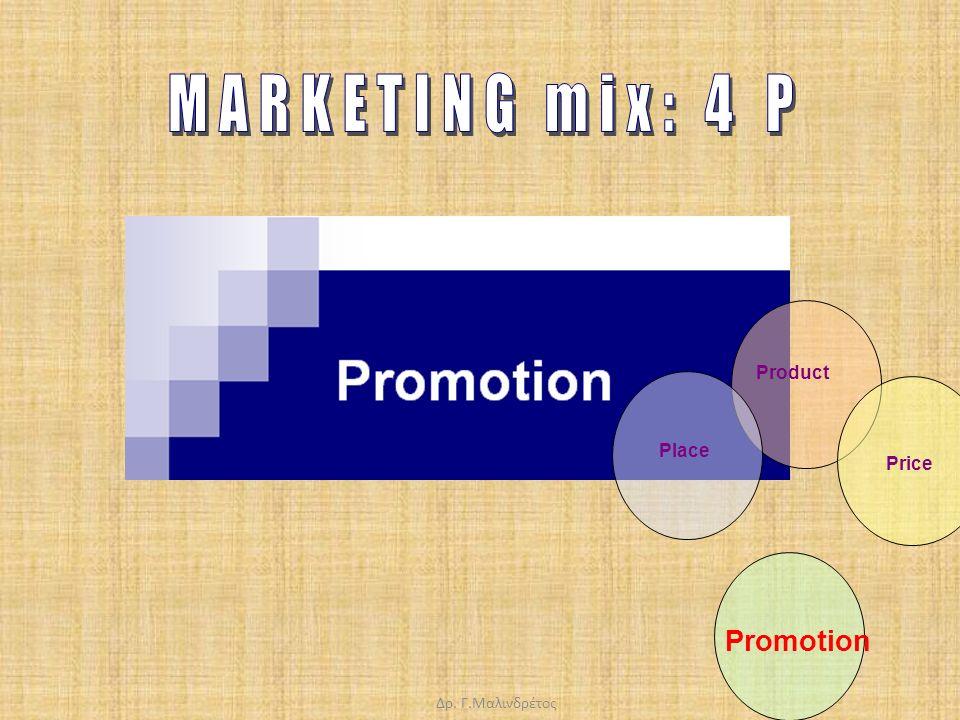 Δρ. Γ.Μαλινδρέτος Product Price Promotion Place