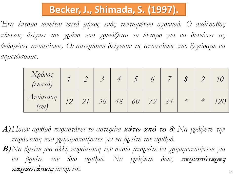 14 Becker, J., Shimada, S. (1997).
