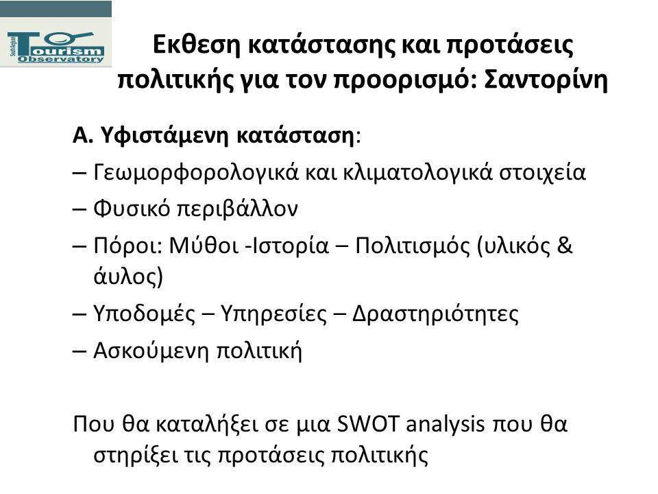 Εκθεση κατάστασης και προτάσεις πολιτικής για τον προορισμό: Σαντορίνη Α. Υφιστάμενη κατάσταση: – Γεωμορφορολογικά και κλιματολογικά στοιχεία – Φυσικό