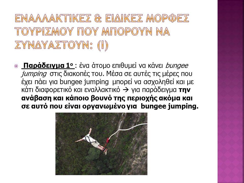  Παράδειγμα 1 ο : ένα άτομο επιθυμεί να κάνει bungee jumping στις διακοπές του.