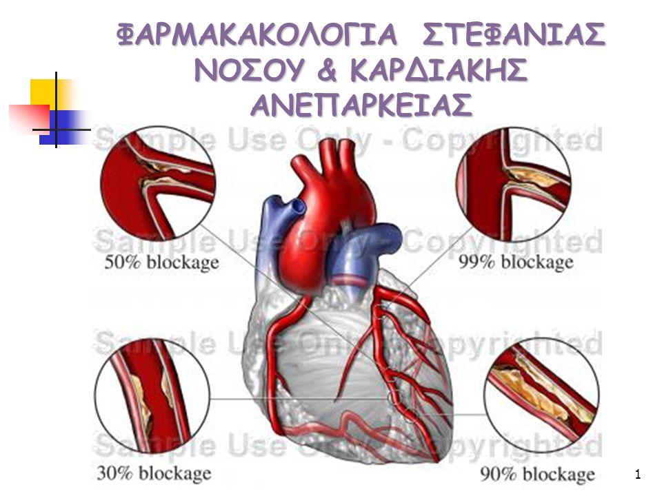 2 Nιτρικά β-Αναστολείς Aνταγωνιστές Ca Nicorandil ΤριμεταζιδίνηΤριμεταζιδίνη a-ΜΕA Φάρμακα στα οποία θα γίνει αναφορά που παρέχουν προφυλακτική ή συμπτωματική θεραπεία στην ΝΣΑ και την ΚΑ  Διουρητικά  Καρδιακές γλυκοσίδες Διγοξίνη  Καρδιακές γλυκοσίδες :Διγοξίνη  Αναστολεις φωσφοδιεστερασης:  Levosimendan  Αντιαιμοπεταλικά Ασπιρινη ανταγωνιστές ADP-R, ανταγωνιστές GIIb/IIIa-R  Αντιπηκτικά : Ηπαρίνη ΧΜΒ ηπαρινες  Θρομβολυτικά Περιλαμβάνουν