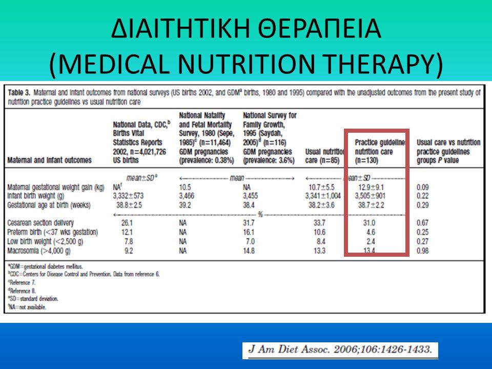 ΔΙΑΙΤΗΤΙΚΗ ΘΕΡΑΠΕΙΑ (MEDICAL NUTRITION THERAPY)