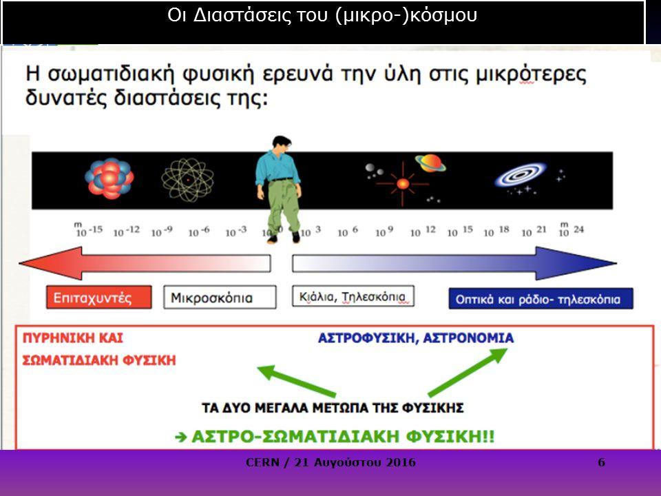 CERN / 21 Αυγούστου 20167 Γιατί πιο μεγάλη ενέργεια.