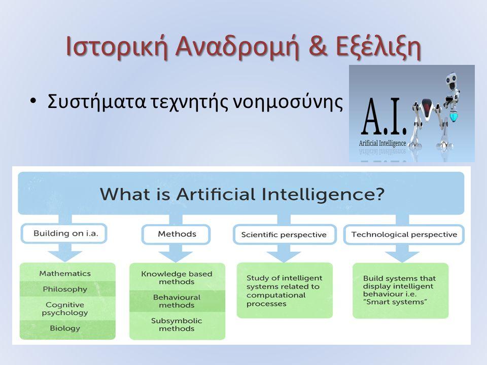 Ιστορική Αναδρομή & Εξέλιξη Συστήματα τεχνητής νοημοσύνης