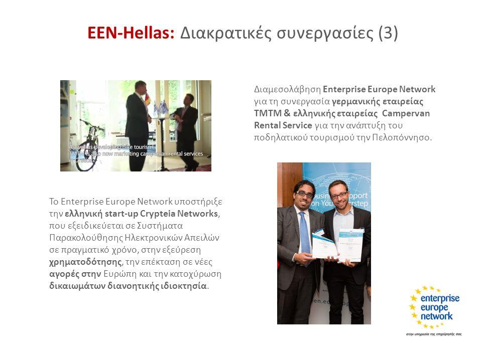 ΕΕΝ-Hellas: Διακρατικές συνεργασίες (3) Διαμεσολάβηση Enterprise Europe Network για τη συνεργασία γερμανικής εταιρείας TMTM & ελληνικής εταιρείας Camp