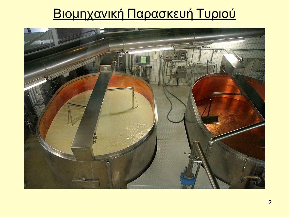 12 Βιομηχανική Παρασκευή Τυριού