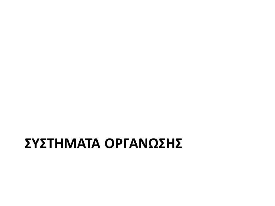 ΣΥΣΤΗΜΑΤΑ ΟΡΓΑΝΩΣΗΣ