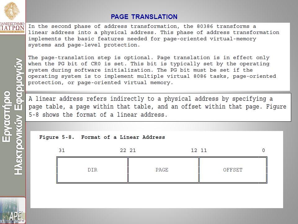 PAGE TRANSLATION