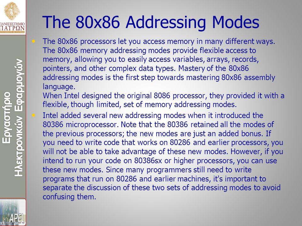 Εκτός από την παροχή υψηλότερων ταχυτήτων ρολογιού, ο 80386 περιλάμβανε μια μονάδα διαχείρισης μνήμης που επέτρεπε στους πόρους της μνήμης να κατανέμονται και να διαχειρίζονται από το λειτουργικό σύστημα.