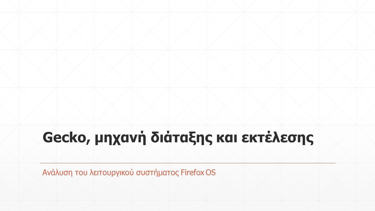 Gecko, μηχανή διάταξης και εκτέλεσης Ανάλυση του λειτουργικού συστήματος Firefox OS