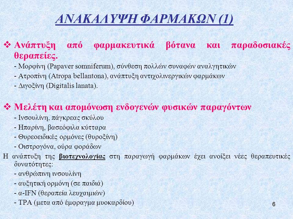 6 ΑΝΑΚΑΛΥΨΗ ΦΑΡΜΑΚΩΝ (1)  Ανάπτυξη από φαρμακευτικά βότανα και παραδοσιακές θεραπείες.