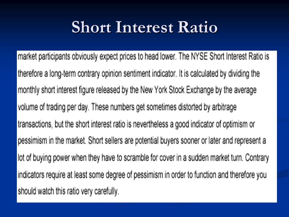 Short Interest Ratio