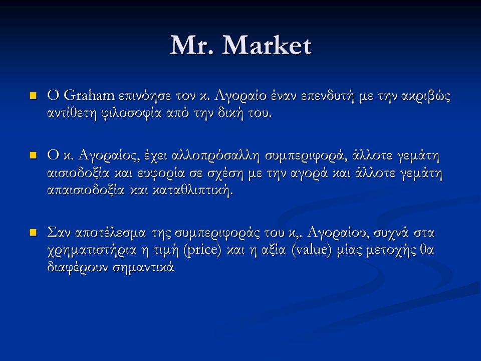 Mr. Market Ο Graham επινόησε τον κ.