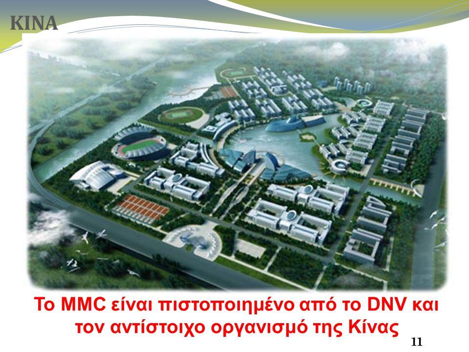 Το MMC είναι πιστοποιημένο από το DNV και τον αντίστοιχο οργανισμό της Κίνας 11 ΚΙΝΑ