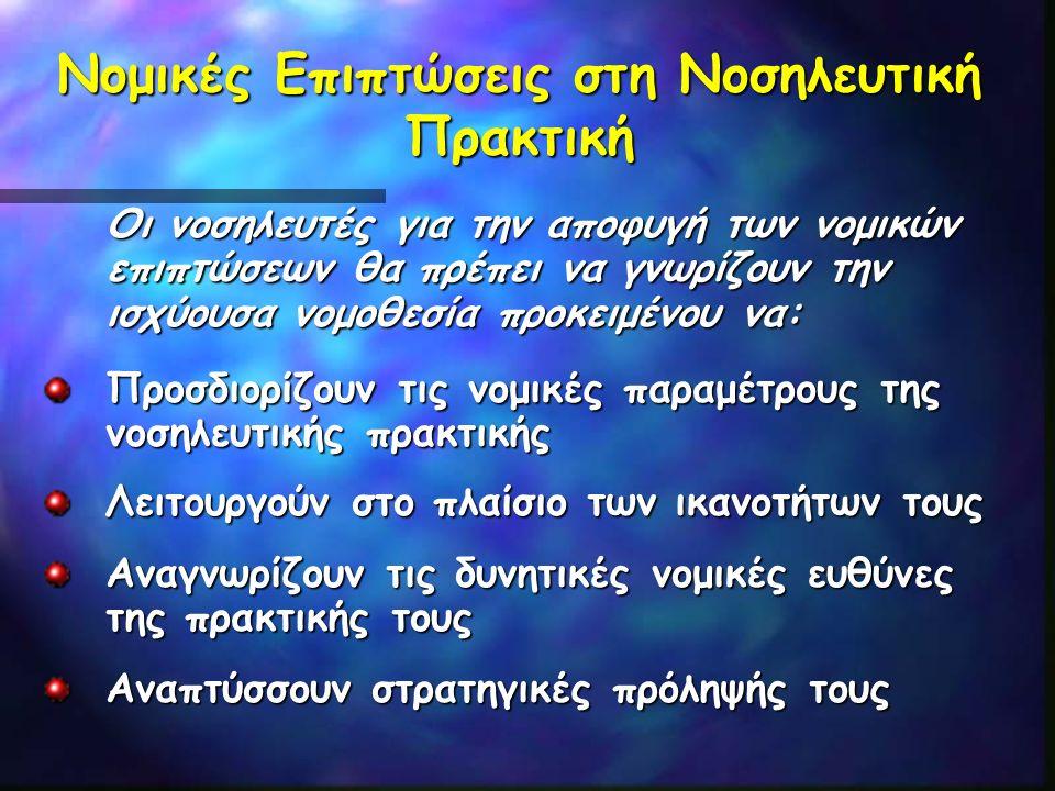 Εξελίξεις στη Νοσηλευτική Εκπαίδευση 2001 Ανωτατοποίηση των ΤΕΙ 1985 Έναρξη Προγραμμάτων Νοσηλευτικών Ειδικοτήτων 19931983 Έναρξη ΠΜΣ, σε Επίπεδο Master's Έναρξη Προγραμμάτων Διδακτορικών Σπουδών 1979 Ίδρυση του Τμήματος Νοσηλευτικής στο Πανεπιστήμιο Αθηνών 1973 Έναρξη Λειτουγίας Τεχνολογικής Εκπαίδευσης,Υπουργείο Παιδείας (ΚΑΤΕΕ/ΚΑΤΕ/ΤΕΙ ) 1875 Έναρξη Λειτουργίας της Πρώτης Σχολής Νοσηλευτών, Υπουργείο Υγείας