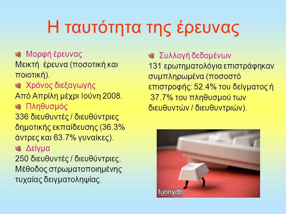 H ταυτότητα της έρευνας Μορφή έρευνας Μεικτή έρευνα (ποσοτική και ποιοτική).