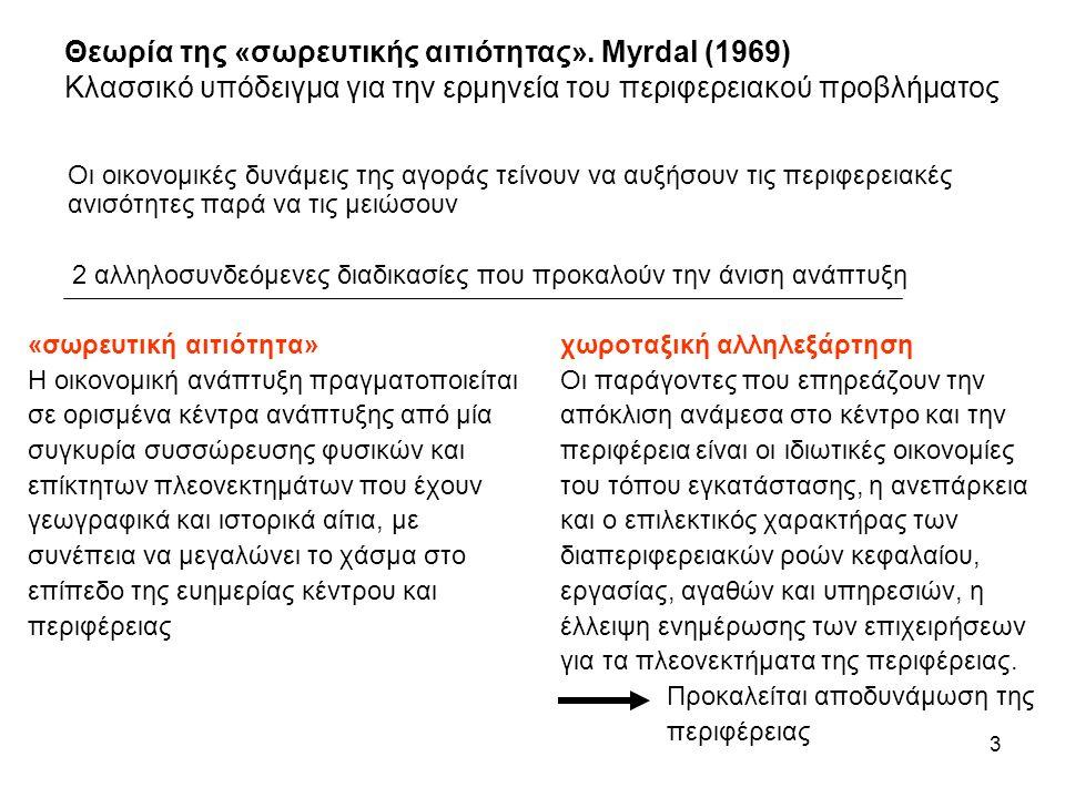 4 3 στάδια οικονομικής εξέλιξης (θεωρία Myrdal): 1.
