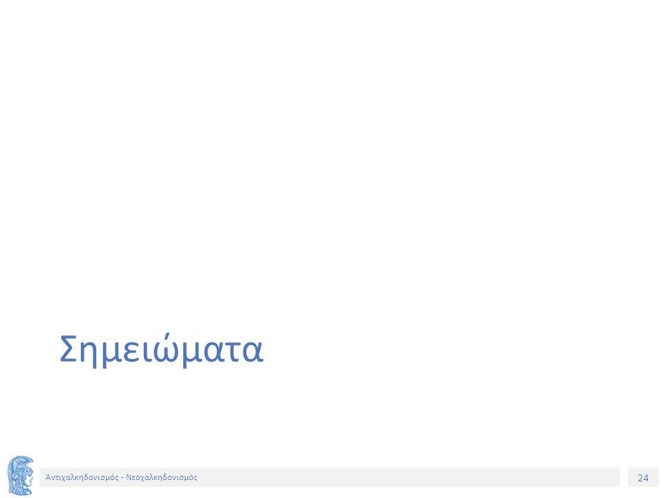 25 Ἀντιχαλκηδονισμός - Νεοχαλκηδονισμός Σημείωμα Ιστορικού Εκδόσεων Έργου Το παρόν έργο αποτελεί την έκδοση 1.0.