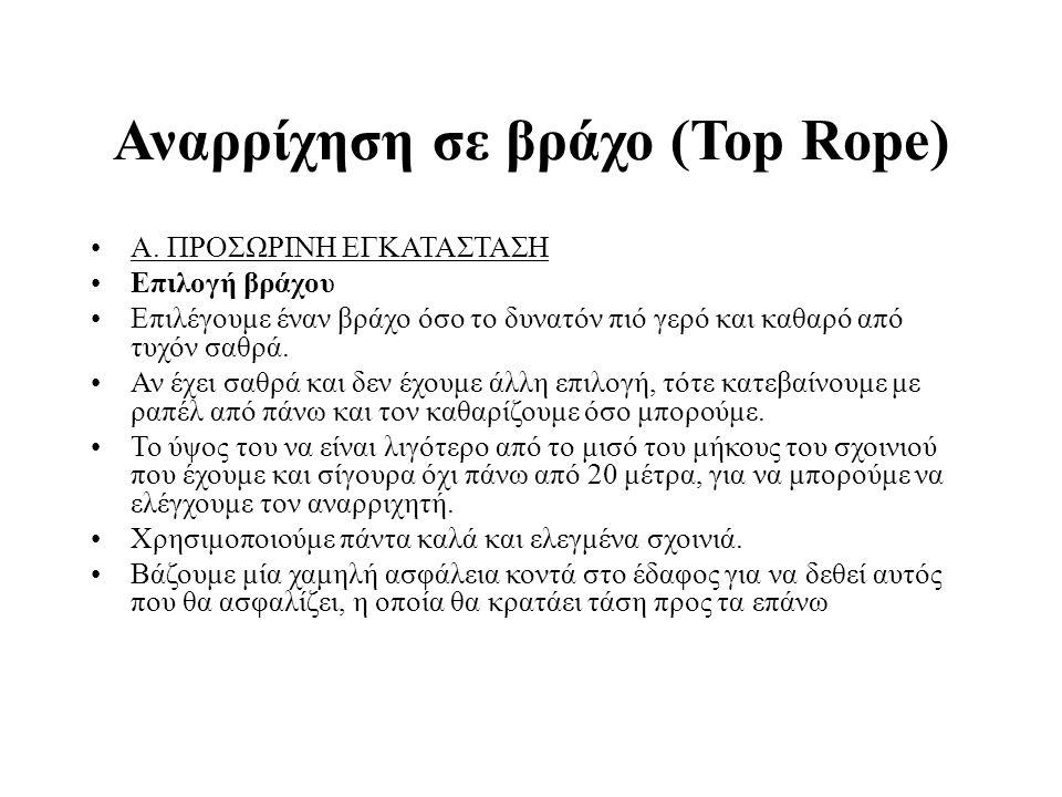 Αναρρίχηση σε βράχο (Top Rope) Α.
